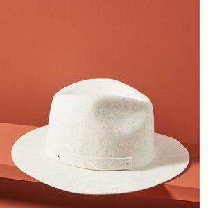 New Anthropologie Amelia Fedora wool hat